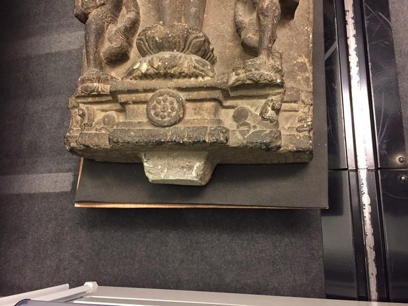 Standing Tirthankara against a stele