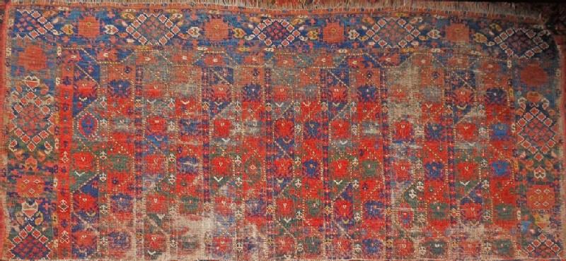 Fragment of a Turkmen Ersari carpet (EA2014.13, record shot)