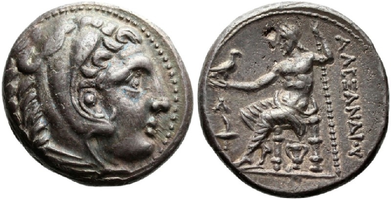 Ancient Greek coin (HCR23276, obverse and reverse, record shot)