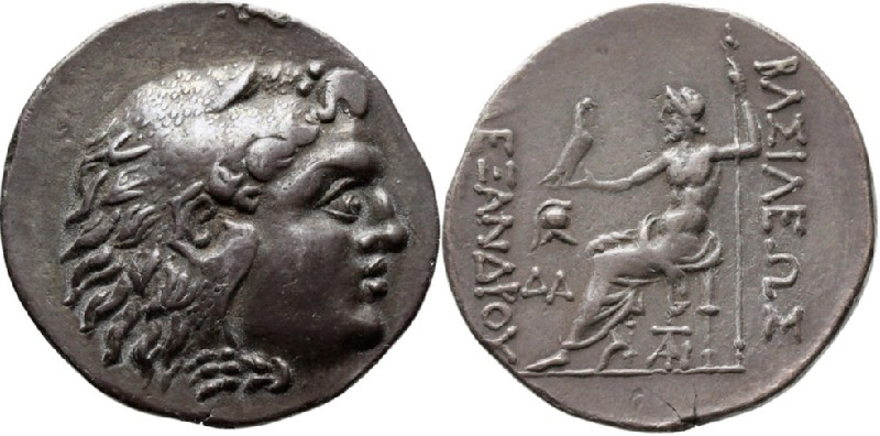 Ancient Greek coin (HCR23313, obverse and reverse, record shot)
