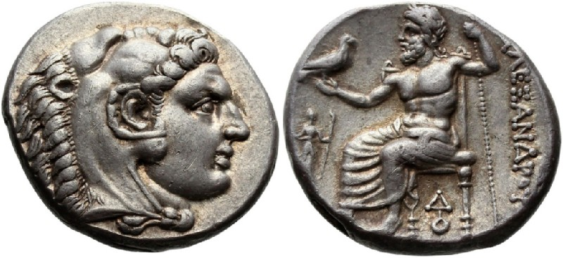Ancient Greek coin (HCR23325, obverse and reverse, record shot)