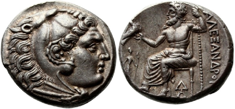 Ancient Greek coin (HCR23326, obverse and reverse, record shot)