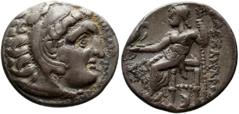 Ancient Greek coin (HCR23383, obverse and reverse, record shot)