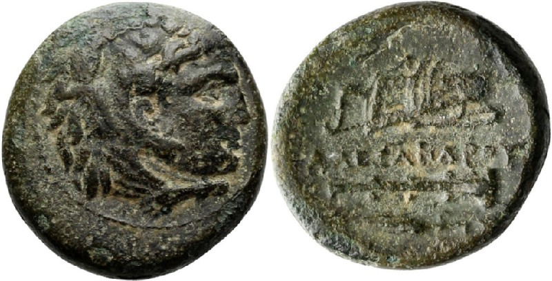 Ancient Greek coin (HCR23868, obverse and reverse, record shot)