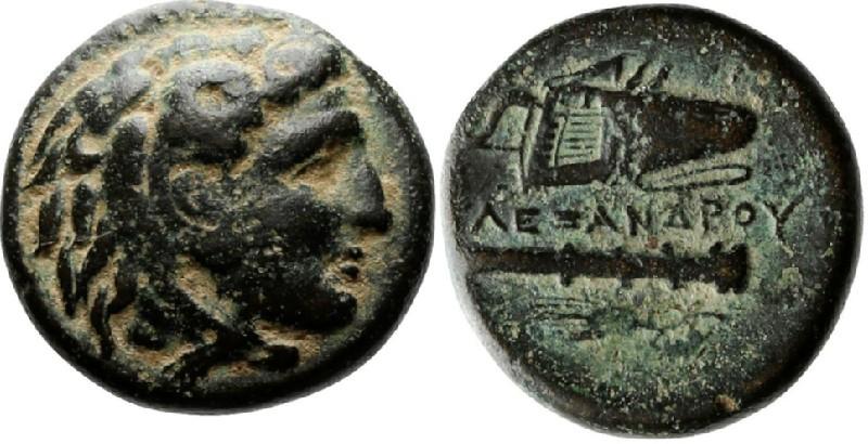 Ancient Greek coin (HCR23870, obverse and reverse, record shot)