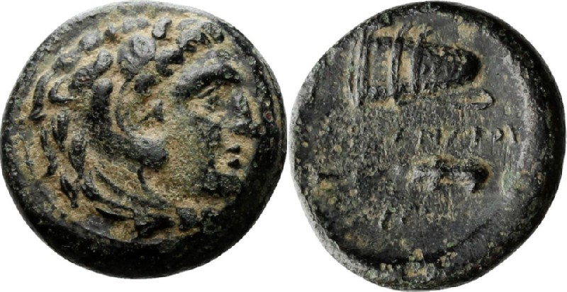 Ancient Greek coin (HCR23880, obverse and reverse, record shot)