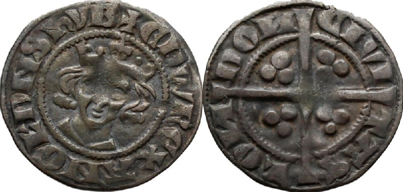 Medieval coin (HCR36560, obverse and reverse, record shot)