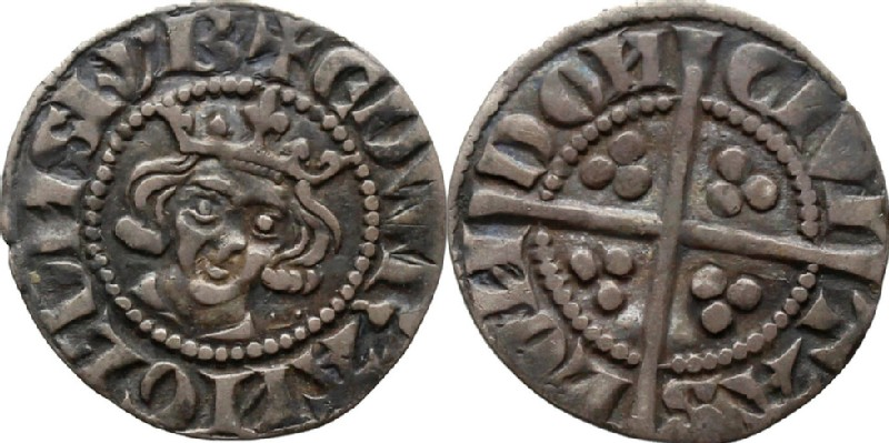 Medieval coin (HCR36570, obverse and reverse, record shot)
