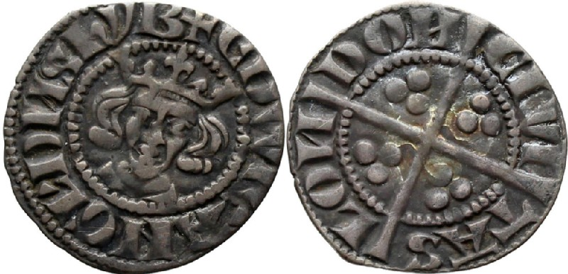 Medieval coin (HCR36572, obverse and reverse, record shot)