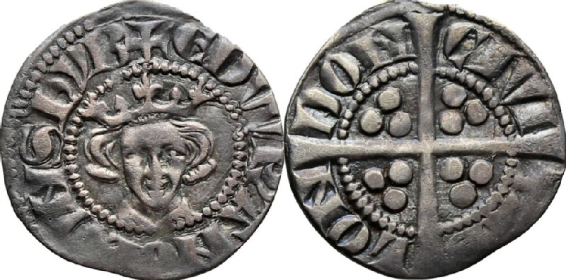 Medieval coin (HCR36606, obverse and reverse, record shot)
