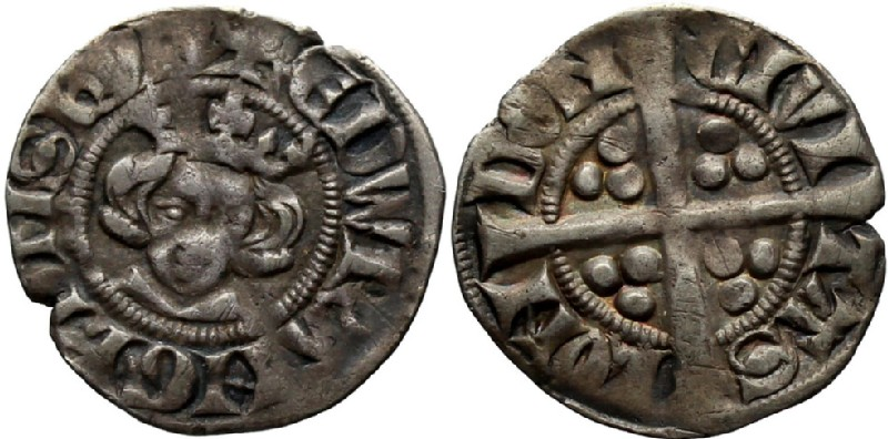 Medieval coin (HCR36615, obverse and reverse, record shot)