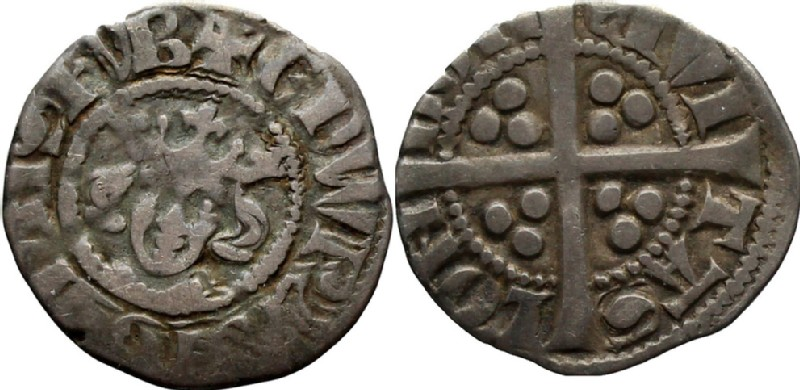Medieval coin (HCR36616, obverse and reverse, record shot)