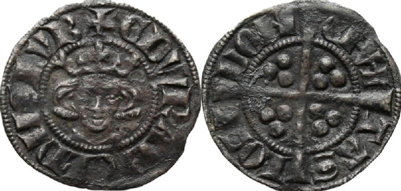 Medieval coin (HCR36622, obverse and reverse, record shot)