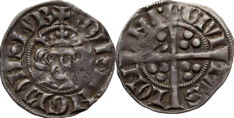Medieval coin (HCR36629, obverse and reverse, record shot)