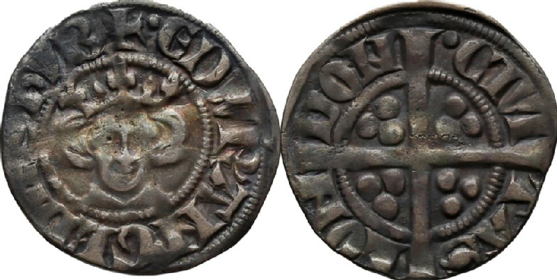 Medieval coin (HCR36635, obverse and reverse, record shot)