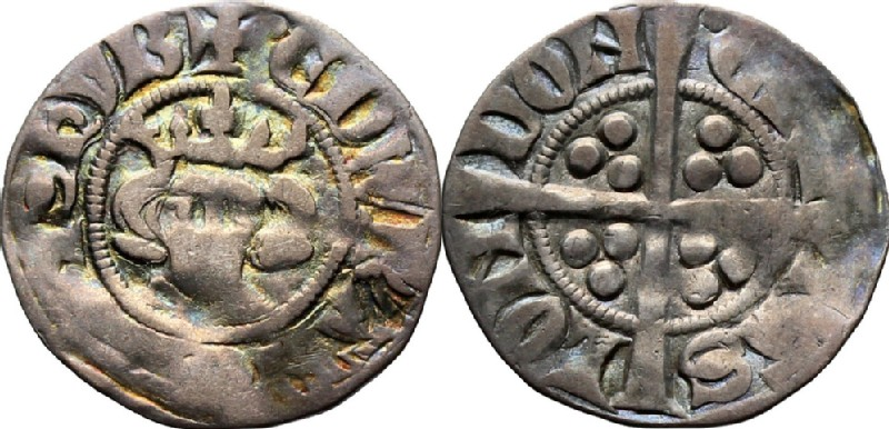 Medieval coin (HCR36636, obverse and reverse, record shot)