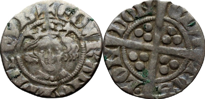 Medieval coin (HCR36646, obverse and reverse, record shot)