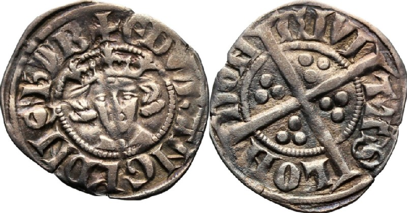 Medieval coin (HCR36650, obverse and reverse, record shot)