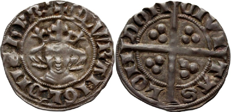 Medieval coin (HCR36658, obverse and reverse, record shot)