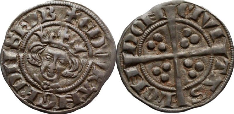 Medieval coin (HCR36659, obverse and reverse, record shot)