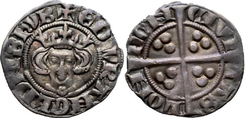 Medieval coin (HCR36661, obverse and reverse, record shot)