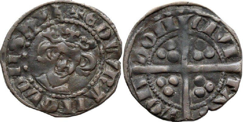 Medieval coin (HCR36686, obverse and reverse, record shot)