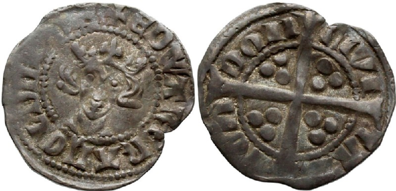 Medieval coin (HCR36689, obverse and reverse, record shot)