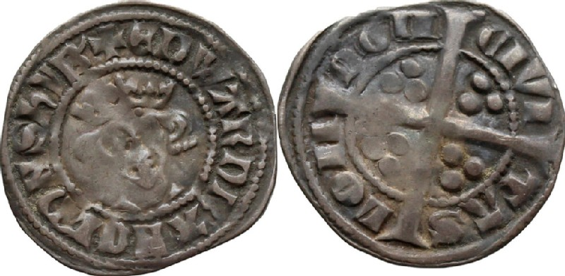 Medieval coin (HCR36690, obverse and reverse, record shot)