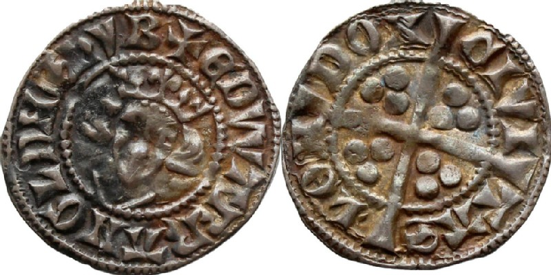 Medieval coin (HCR36697, obverse and reverse, record shot)
