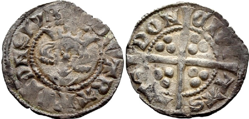Medieval coin (HCR36724, obverse and reverse, record shot)