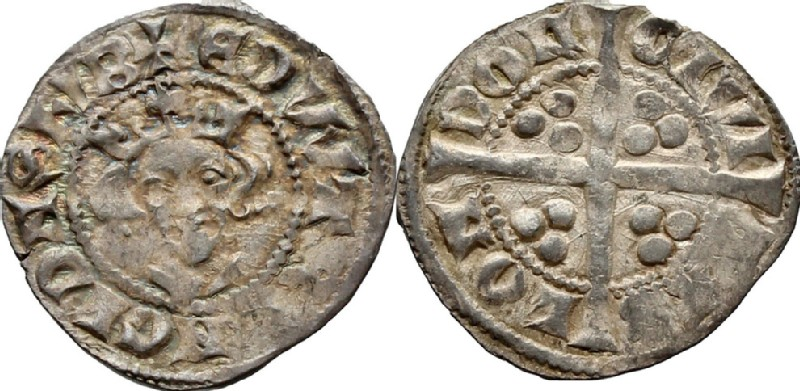 Medieval coin (HCR36728, obverse and reverse, record shot)
