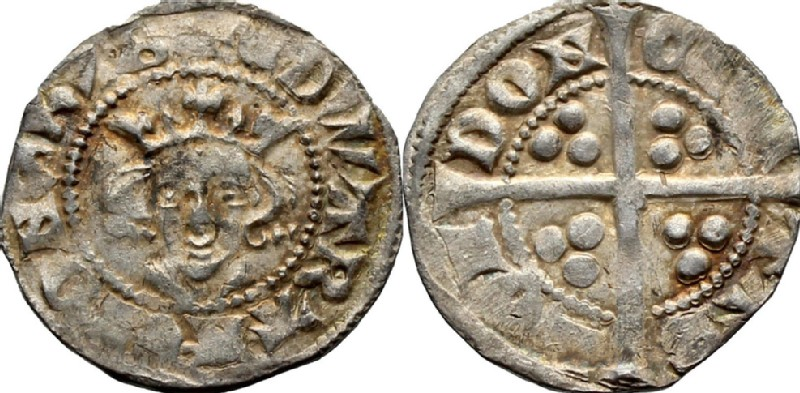 Medieval coin (HCR36739, obverse and reverse, record shot)
