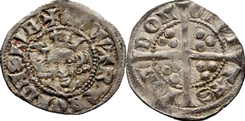 Medieval coin (HCR36742, obverse and reverse, record shot)