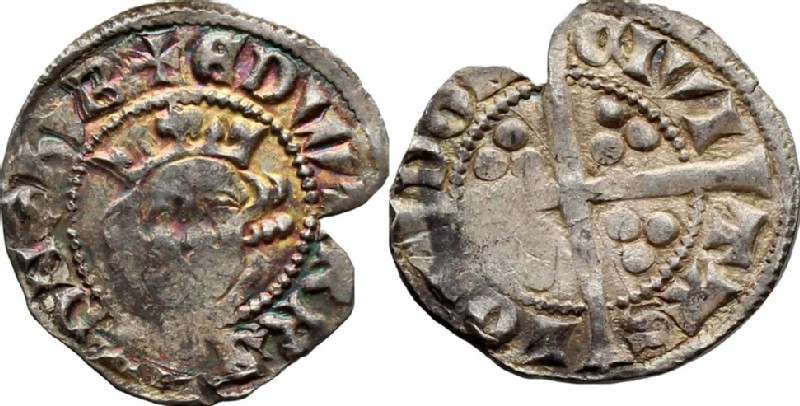 Medieval coin (HCR36744, obverse and reverse, record shot)