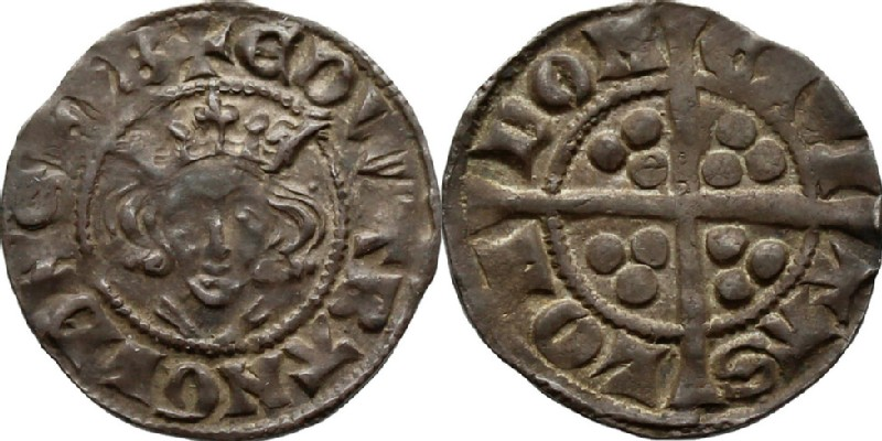 Medieval coin (obverse and reverse)