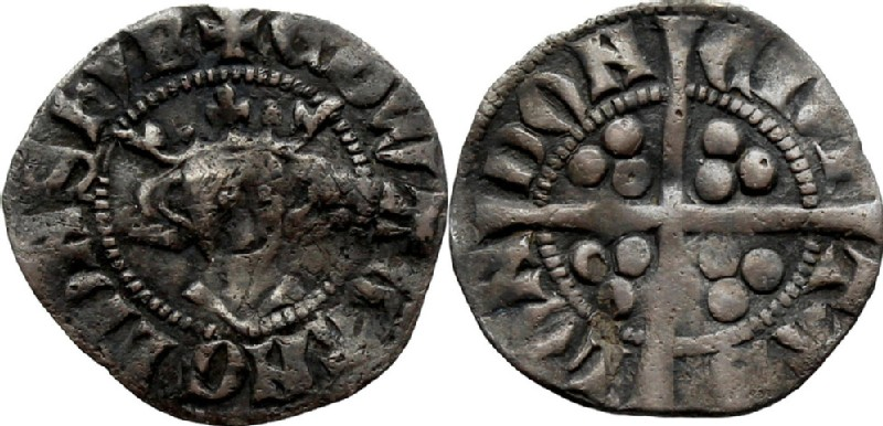 Medieval coin (HCR36766, obverse and reverse, record shot)