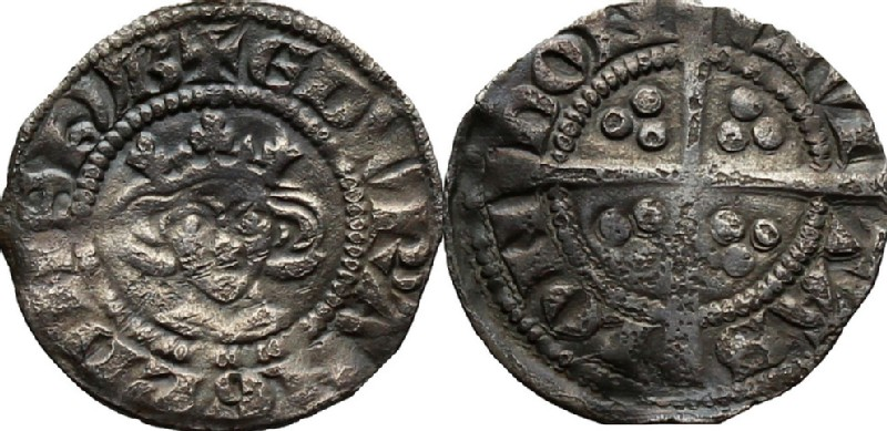 Medieval coin (HCR36783, obverse and reverse, record shot)