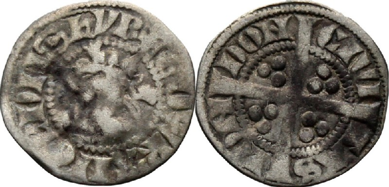 Medieval coin (HCR36810, obverse and reverse, record shot)