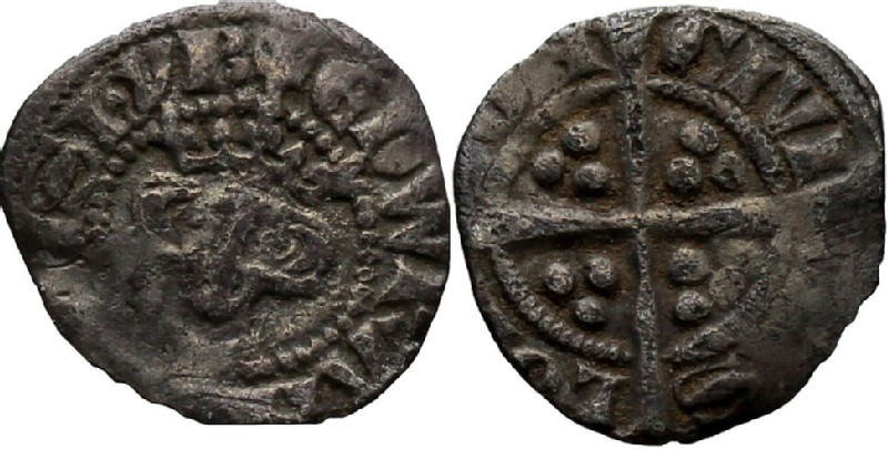 Medieval coin (HCR36814, obverse and reverse, record shot)