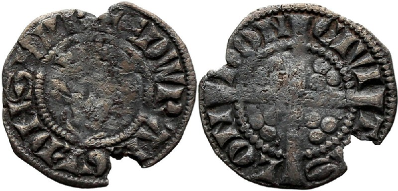 Medieval coin (HCR36820, obverse and reverse, record shot)