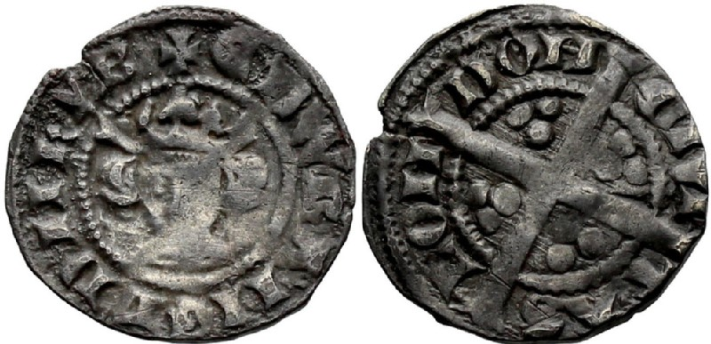 Medieval coin (HCR36842, obverse and reverse, record shot)
