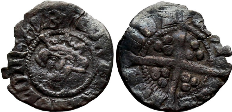 Medieval coin (HCR36849, obverse and reverse, record shot)
