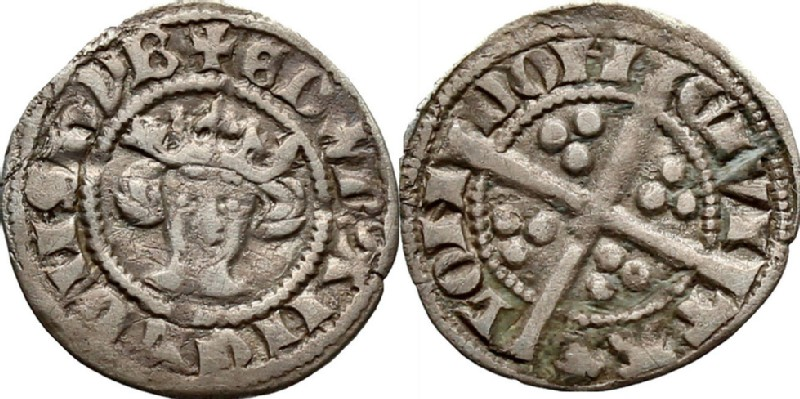 Medieval coin (HCR36851, obverse and reverse, record shot)