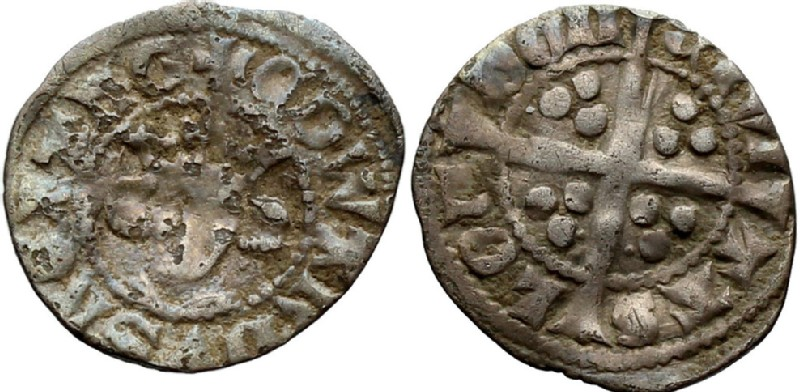 Medieval coin (HCR36853, obverse and reverse, record shot)