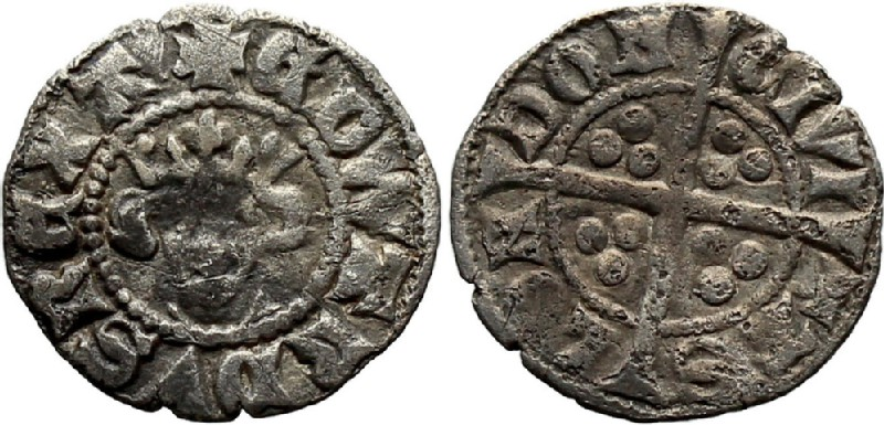 Medieval coin (HCR36858, obverse and reverse, record shot)