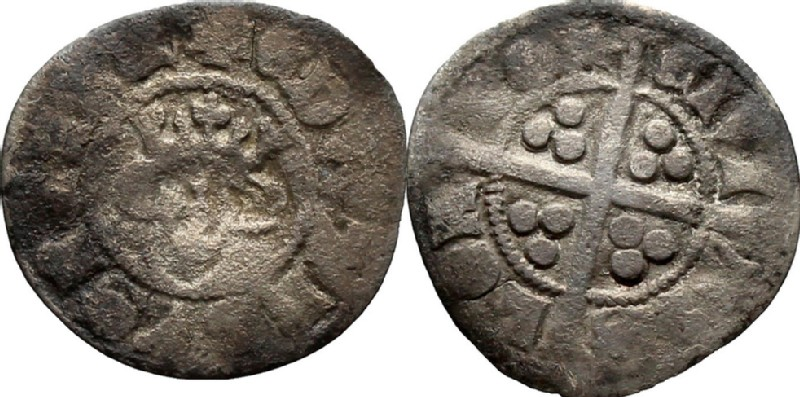 Medieval coin (HCR36861, obverse and reverse, record shot)