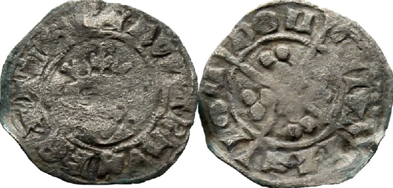 Medieval coin (HCR36862, obverse and reverse, record shot)