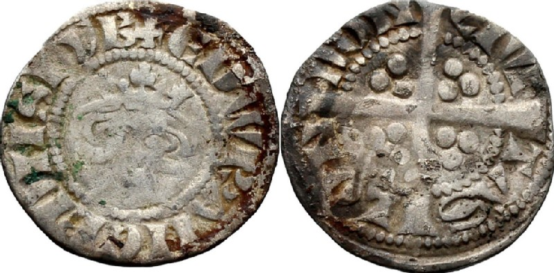 Medieval coin (HCR36865, obverse and reverse, record shot)