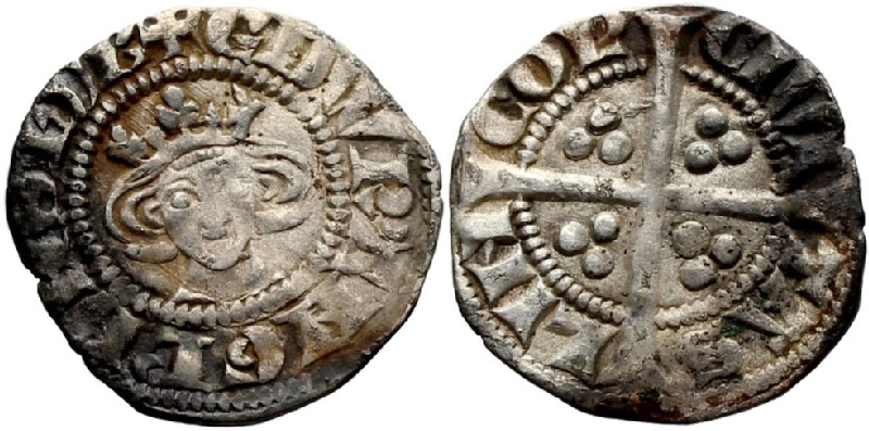 Medieval coin (HCR36868, obverse and reverse, record shot)