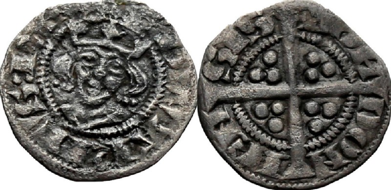 Medieval coin (HCR36873, obverse and reverse, record shot)